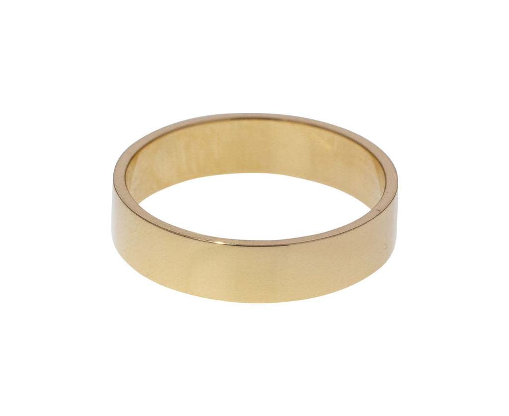 Polished Gold Men's Wedding Band