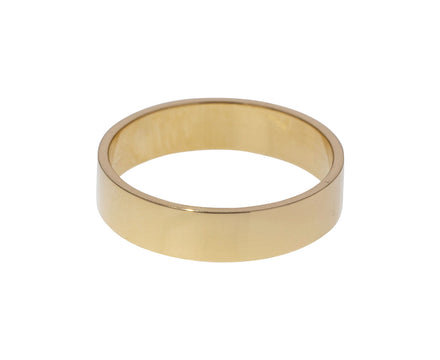 Polished Gold Men's Wedding Band - TWISTonline