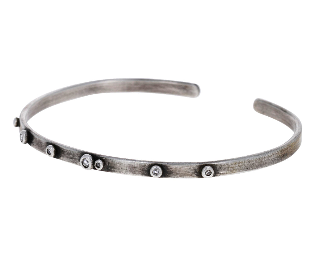 Silver and Diamond Cuff Bracelet