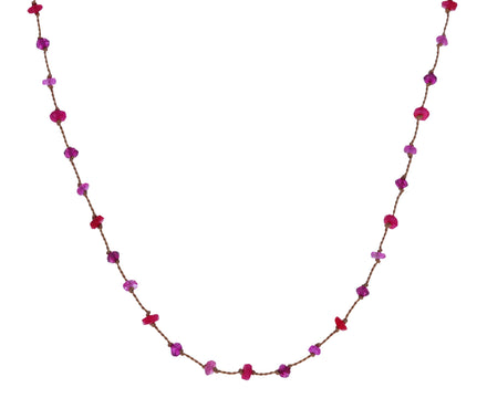 Pink Tone Beaded Necklace