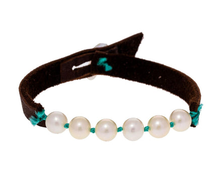 Freshwater Pearl and Leather Bracelet - TWISTonline