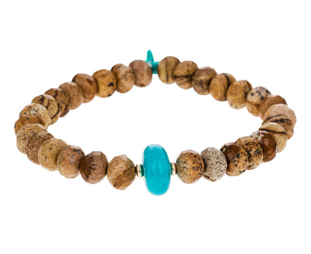 Jasper and Amazonite Beaded Bracelet - TWISTonline