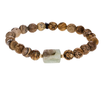Jasper and African Aquamarine Bracelet - TWISTonline
