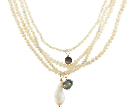 Multi Strand Keshi Pearl Necklace - TWISTonline