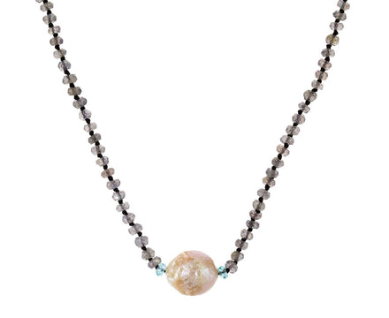 Pearl, Labradorite and Apatite Necklace - TWISTonline