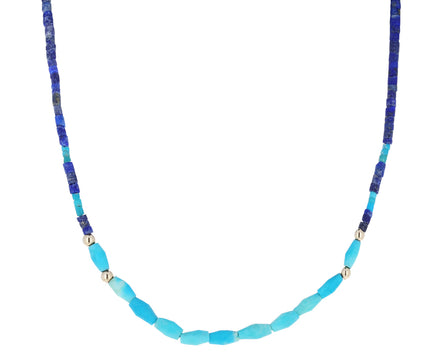 Lapis and Turquoise Beaded Necklace - TWISTonline