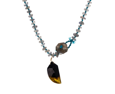 Labradorite and Watermelon Tourmaline Necklace - TWISTonline