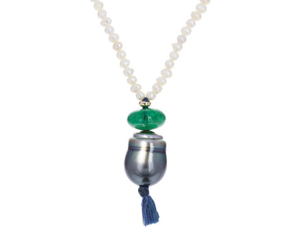 Keshi and Tahitian Pearl Pendant Necklace - TWISTonline