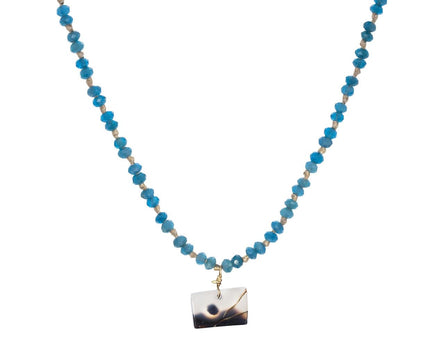 Apatite and Montana Agate Necklace - TWISTonline