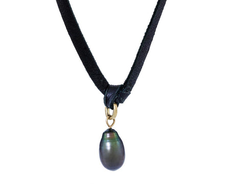 Tahitian Pearl Leather Necklace - TWISTonline