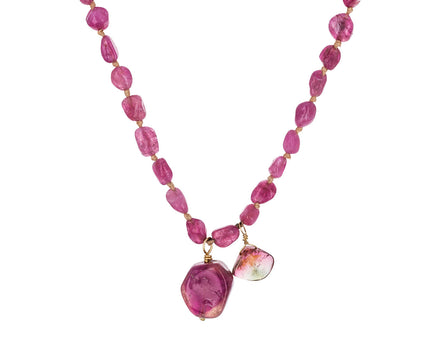 Pink Tourmaline and Watermelon Tourmaline Necklace - TWISTonline