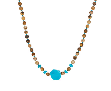 Jasper and Turquoise Beaded Necklace - TWISTonline