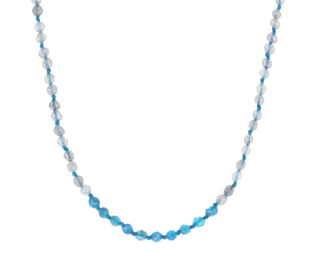 Labradorite and Apatite Beaded Necklace - TWISTonline