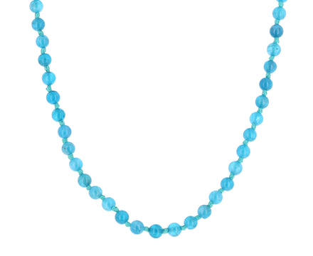 Apatite and Leather Necklace
