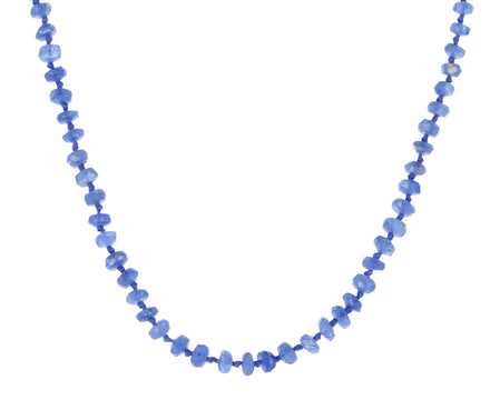 Blue Sapphire and Leather Necklace