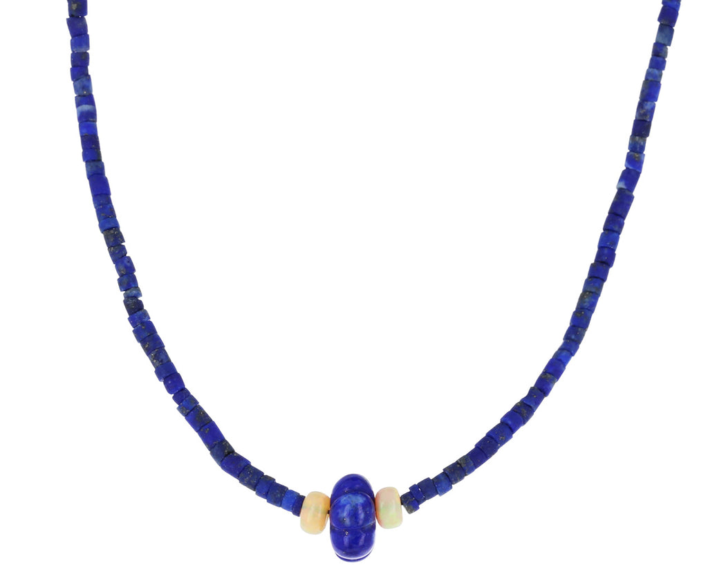 Lapis and Opal Beaded Necklace
