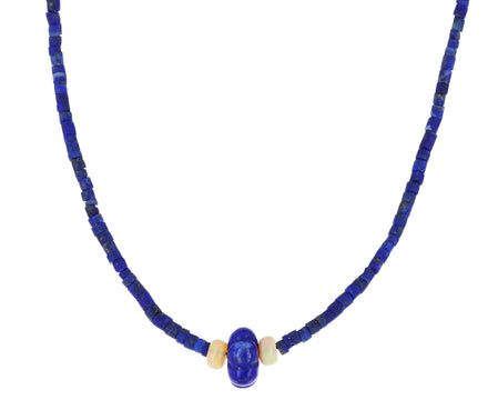 Lapis and Opal Beaded Necklace - TWISTonline