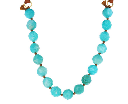 Amazonite and Leather Necklace - TWISTonline