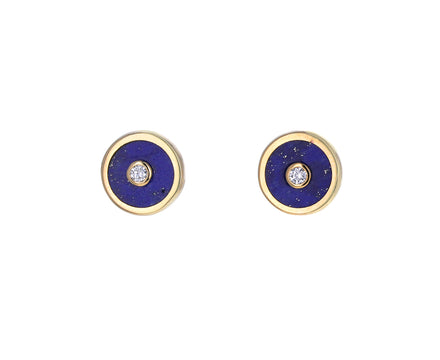 Lapis and Diamond Mini Compass Studs