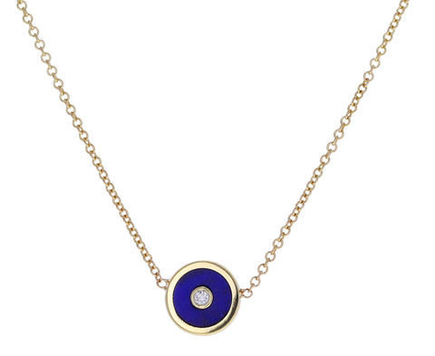 Lapis Mini Compass Necklace