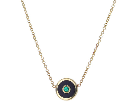 Onyx and Emerald Compass Necklace