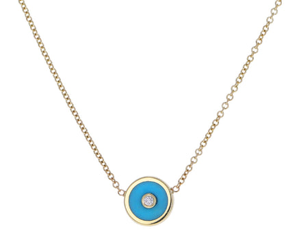 Turquoise Mini Compass Necklace