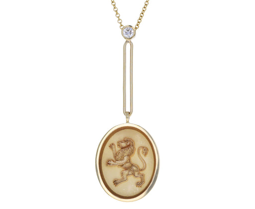 Grandfather Fantasy Lion Signet Necklace