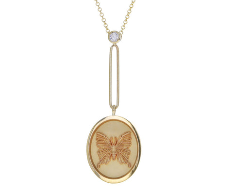 Grandfather Fantasy Butterfly Signet Necklace
