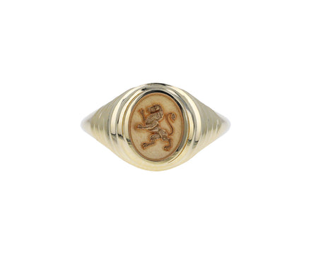 Tiered Lion Fantasy Signet Ring