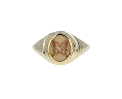 Tiered Butterfly Fantasy Signet Ring