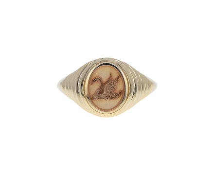 Tiered Swan Fantasy Signet Ring