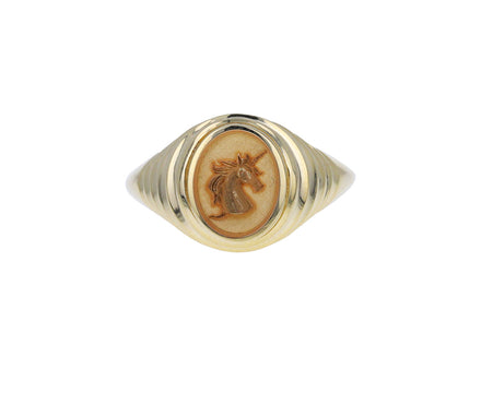 Tiered Unicorn Fantasy Signet Ring