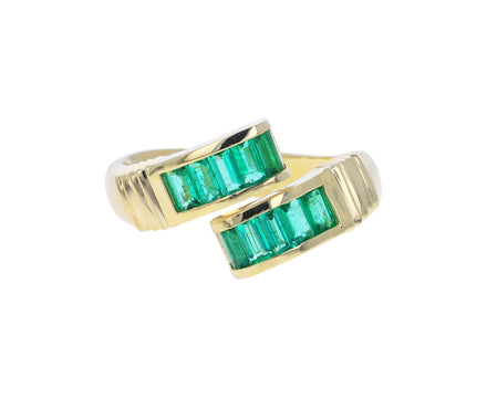 Emerald Buckle Ring