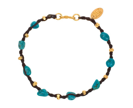 Turquoise and Gold Bead Bracelet - TWISTonline