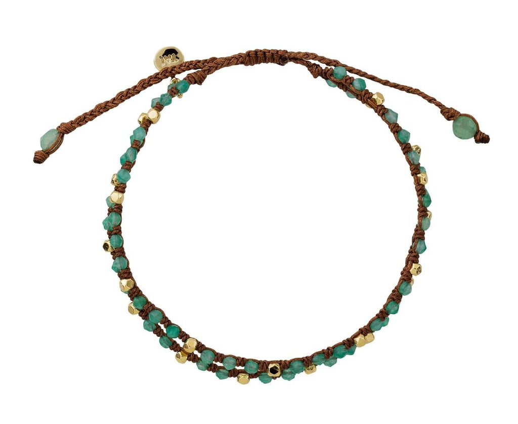 Amazonite and Gold Bead Bracelet - TWISTonline