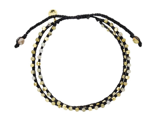 Gold and Gray Agate Bead Bracelet - TWISTonline