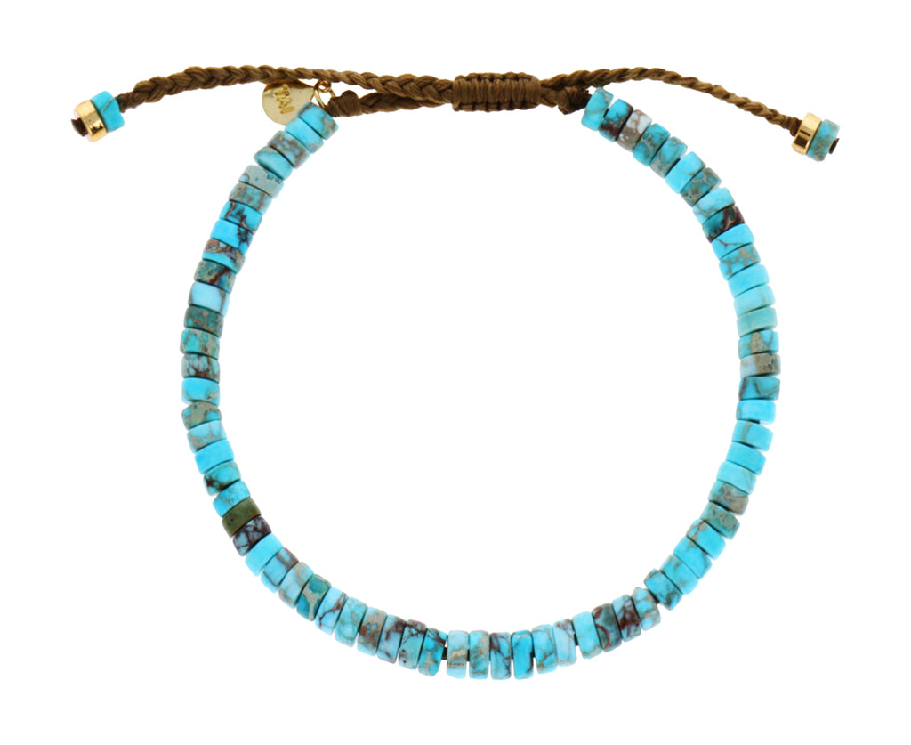 Smooth Turquoise Beaded Bracelet