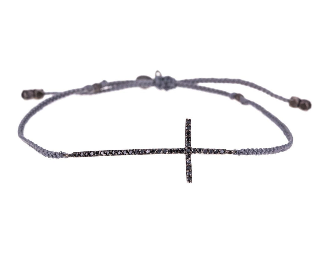 Blackened Crystal Cross Bracelet - TWISTonline