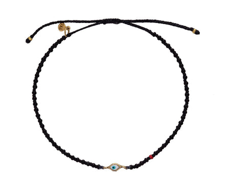 Tiny Evil Eye Black Seed Bead Bracelet - TWISTonline