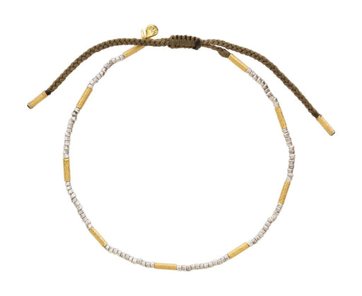 Gold Vermeil and Sterling Silver Beaded Bracelet - TWISTonline