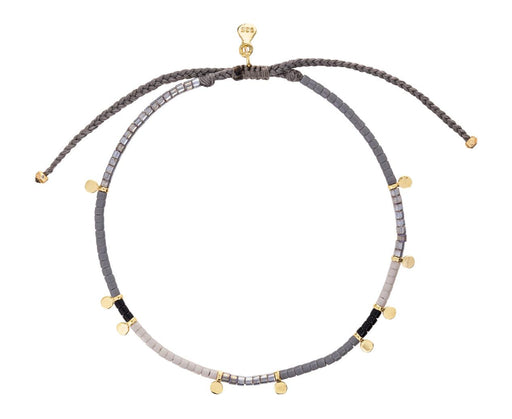 Mixed Bead and Gold Disc Bracelet - TWISTonline