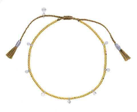 Gold Bead and Silver Disc Bracelet - TWISTonline