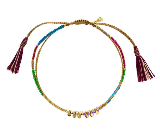 Braided Rainbow Mix Beaded Bracelet - TWISTonline