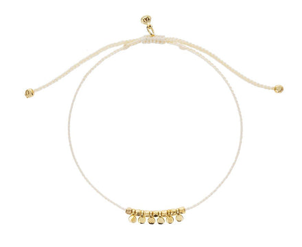 Vanilla Nylon with Gold Disc Bracelet - TWISTonline
