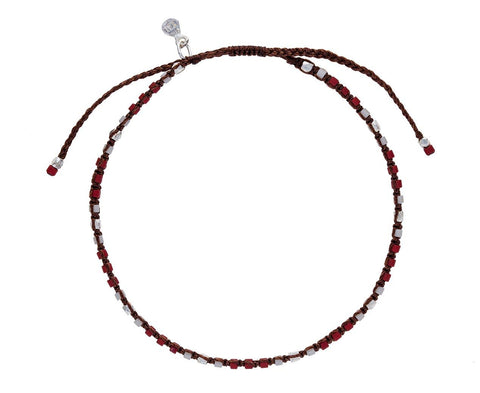 Silver and Red Bead Bracelet - TWISTonline