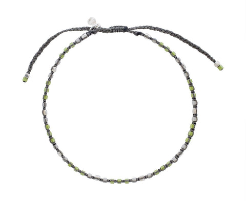 Light Green and Silver Beaded Bracelet - TWISTonline