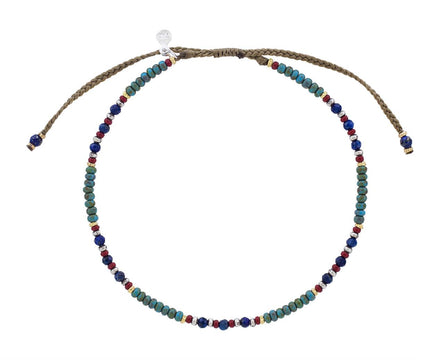 Lapis and Turquoise Beaded Bracelet - TWISTonline