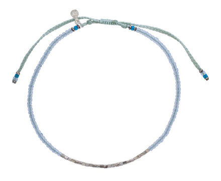 Light Blue and Silver Bead Bracelet - TWISTonline