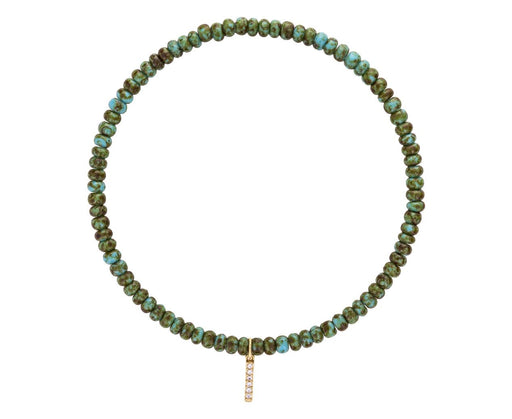 CZ Bar and Turquoise Bracelet - TWISTonline