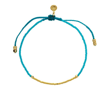 Turquoise and Gold Vermeil Beaded Bracelet - TWISTonline